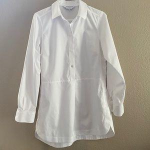 Foxcroft Heritage non-iron shaped tunic white 4